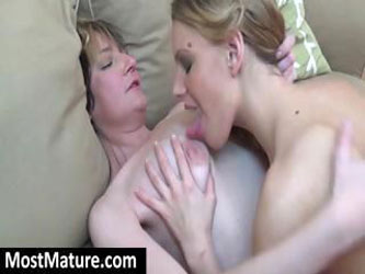 Young hottie gets it on with two nasty MILFs with hairy pussies