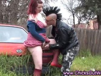 Real punk aussie couple
