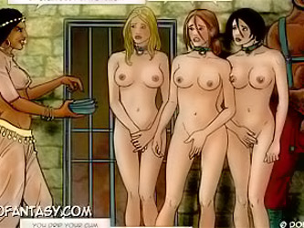 4 young beauty queens locked up in a middle east harem!