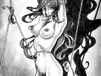 Ashley has a talent for drawing women in distress. The cartoon style of her BDSM art is sexy.