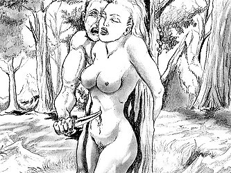 The brilliance of Alexus is in using pencil to create BDSM drawings that depict often brutal torture.