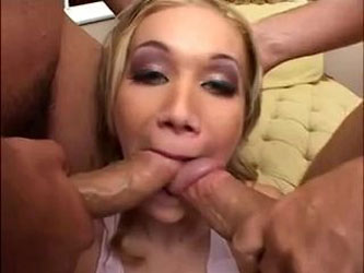 Double Stuffed Pussy Pounding For A Skinny Skank! By: FTW88