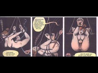 Classic German story of a woman tormented sexually by her brutal dungeon masters horror BDSM fantasy xxx comic story Pure evil at wwwWristRopecom