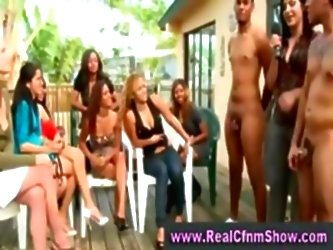 Real Amateur Cfnm Party Outdoors