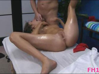 Cute 18 year old babe gets fucked hard by her massage therapist