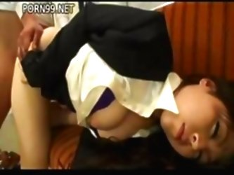 Japanese Girl Is On The Couch Su...