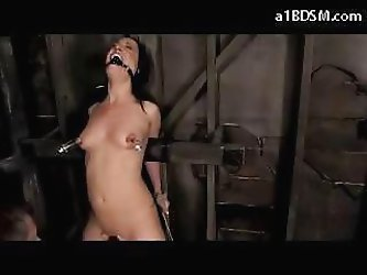 Girl Tied To Wall Mouthgagged Nipple And Clit Vacum Whipped Fingered Nipples Pussy Tortured With Weights In The Dungeon