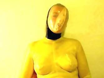 Latex Rubber Vaccum Mask Breath Play