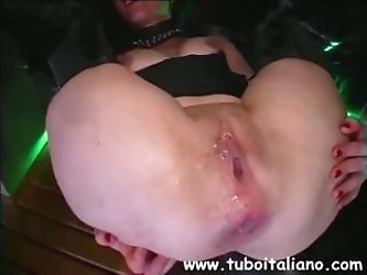 Nasty Italian amateur uses her fingers and his cock to stimulate her ass