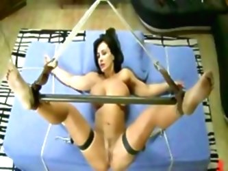 Bitch Fucked In Cage Abused With...