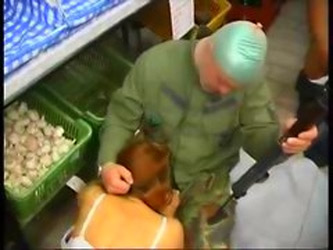 Russians Are Forced Into A Store