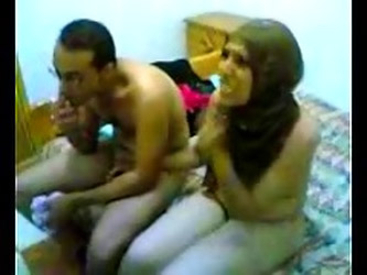 Egyptian couple trying to shoot a porn video