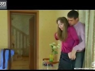 Leila and Lucas pantyhose mom on video