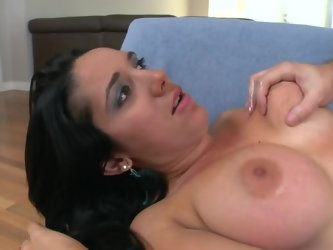 Another big boobed pornstar is willing to test a delicious pecker in front of the camera. Madison Foxx blows a fine dong, gets fucked so damn hard and