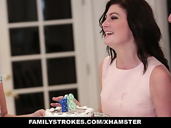 familyStrokes - Fucking  dad While Mom Cooks
