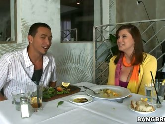Hot guy has a date wiht Sara Stone today! They enjoy amazing beach bicycle trip and dinner together. After the meal they set to a private casino room