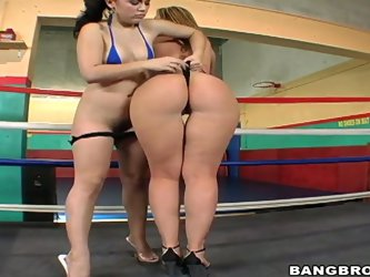 Have a ball with two depraved amazing sex dolls Kristina Rose and Sara Jay staying in a  squared circle after box lesson. The vixens are proud of thei