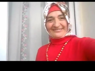 Turkish granny in hijab