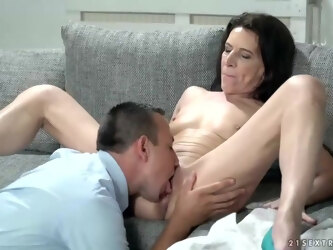 Small titted brunette, Viol has hooked up with Rob, just to ride his rock hard cock