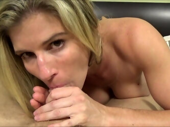 Blonde Mom Blows Step Son - Family Therapy