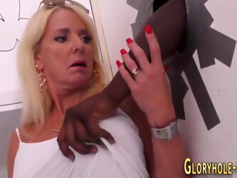 Milf blows gloryhole bbc