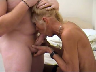 Ugly and almost anorexic blonde MILF named Kay joyfully takes her doctor's stiff dick up her time worn cunt. She gives some head and gets pounded