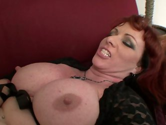 Well stacked redhead hooker Kylie Ireland gets her fat coochie drilled doggystyle. Later she rides big cock on top and takes it up her asshole mission