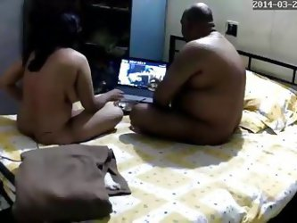 Indian hotwife sucking stranger's cock