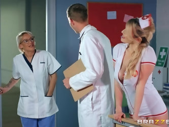 sexy nurse Marica Chanelle adores fuck and a blowjob in the hospital