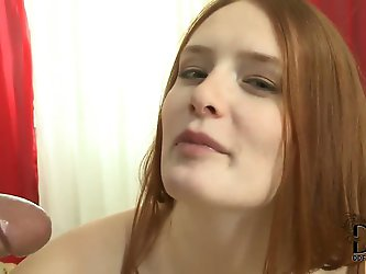 Perfect red-head dove Denisa Heaven has suitable cream skin and pink pussy, that is getting ready to receive a good portion of banging from hungry cho