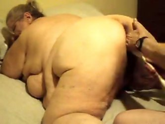 I just made that fat old grandma go crazy when she bent over. I fisted her with my two hands and inserted a pussy balloon to stretch her dirty pink ca
