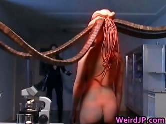 Asami Ogawa Asian babes fight tentacle