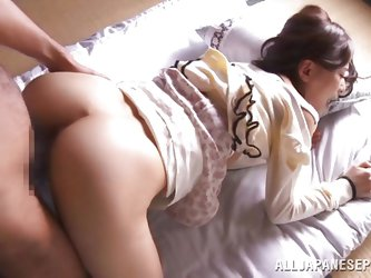 Nothing compares with an Asian booty, especially if she's a sexy milf, such as Kaho! This slut gets her legs spread, like it or not, and then the