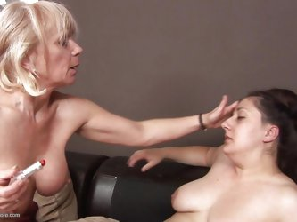 Kimberly is a chubby slut that needs to wear make up and mommy Jane is about to teach her how to properly use lipstick. After humiliating her Jane put