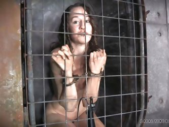 There's a merciless executor who keeps helpless sluts captive in bondage cages and uses them in conformity with his sadistic desires. Click to se