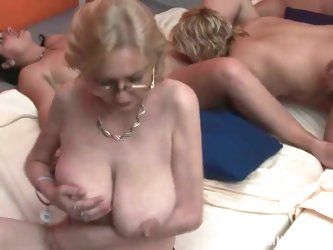 Noisy home party turns into a wild group sexy orgy