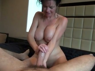 The motel room is filled with load groans, cuz kinky sweaty brunette rides strong long cock on top. Dirty like mud all sweaty bootylicious chick is al