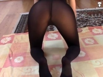 JOI in tights over pantyhose - teasing