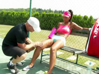 Instead Of Playing Tennis, This Tanned Slut Likes To Suck An