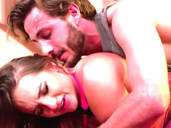 What began as a bit of wrestling has turned into a full-on wild foreplay session with beautiful tit sucking, facesitting, and a 69 where he lovingly t