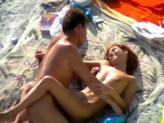 Dude, I taped two couples having outdoor sex on the beach in broad daylight! Skinny redhead slut got her twat bonked mish while brunette skank gave he
