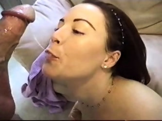 POV anal and blowjob session with skanky brunette bitch
