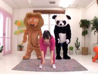 Furry Workout Video With Two Guys In Costume And A Japanese