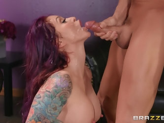 jumping on a sturdly friend's cock is the favorite sport of Monique Alexander