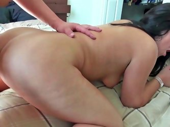 A brunette gets her ass drilled in this fine video