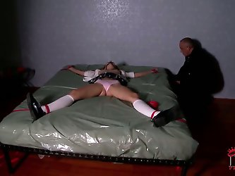 The perverse man is back in part two of this kind of disturbing House of Taboo scene featuring Nataly Von taken out of a suitcase and abused by Bruno.