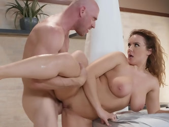 Athletic fucker knows how to make Natasha moan. He brings his big dick into play and it turns girl with natural forms crazy. She cheats on her husband