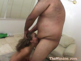 Jayma Reed gets abused by a fat guy with a small dick