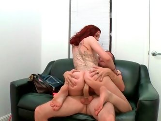 Ginger Maxx sucking cock and getting fucked in her snatch