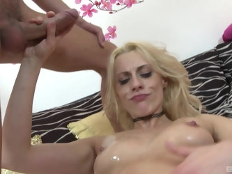 Brittany Bardot rides it until the end and enjoys sperm on ass